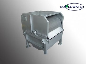 China External Feed Rotary Drum Screen Silver Metal Color Robust Perforated Opening Type supplier